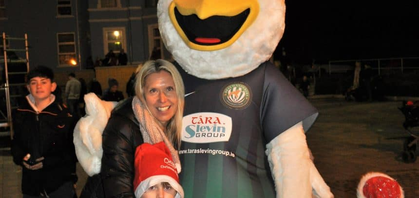 Rocky J at the Bray Christmas lights switch on