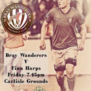 Wanderers host Finn Harps in FAI cup this Friday