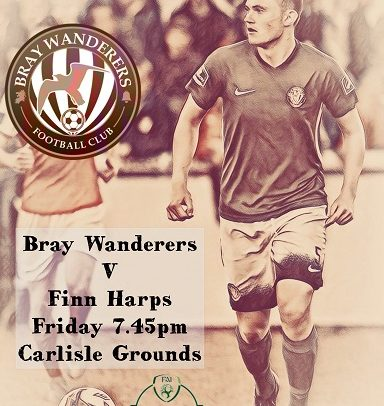Wanderers host Finn Harps in FAI cup this Friday