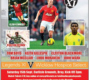 Wicklow Hospice Charity match at the Carlisle Grounds