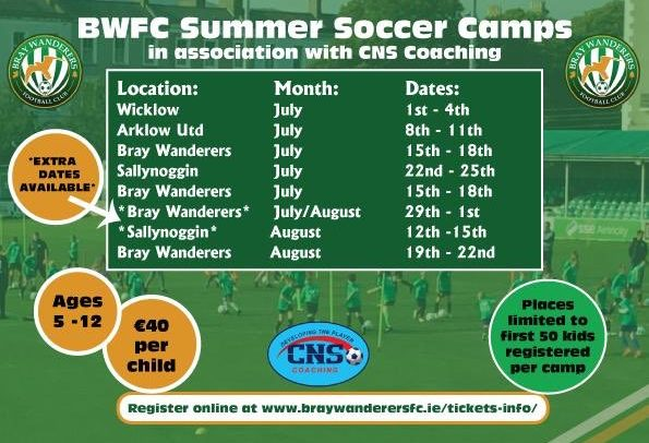 Extra dates added to BWFC summer soccer camps