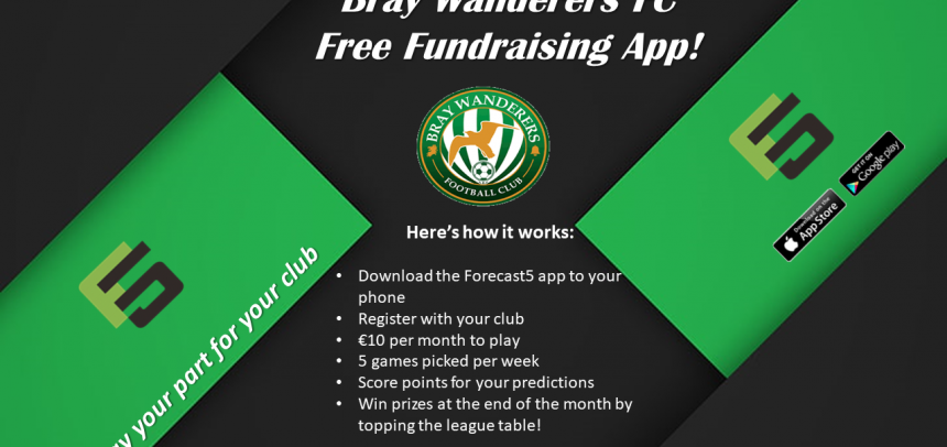New club fundraising app with Forecast 5