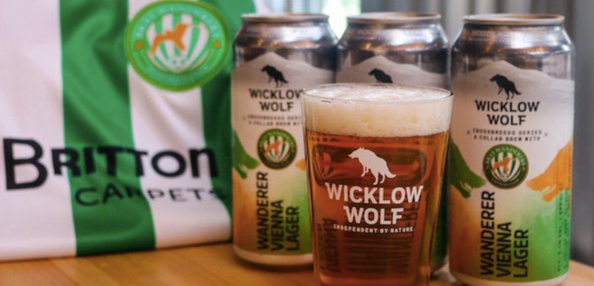 Wanderers team up with Wicklow Wolf to launch its own lager