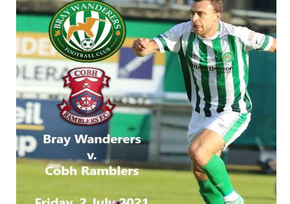 Free Matchday programme v. Cobh Ramblers
